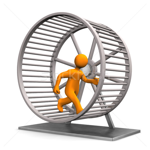 Hamster Running Wheel Stock photo © limbi007
