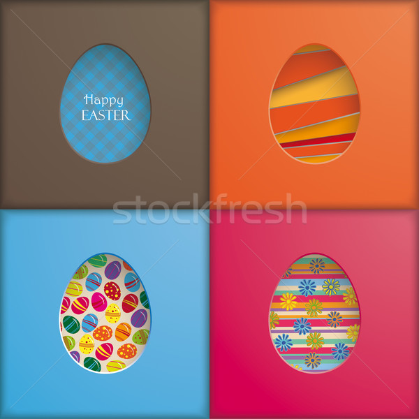 4 Easter Eggs Holes Stock photo © limbi007