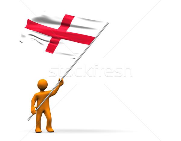 Stock fotó: Anglia · ventillátor · illusztráció · külső · nagy · zászló