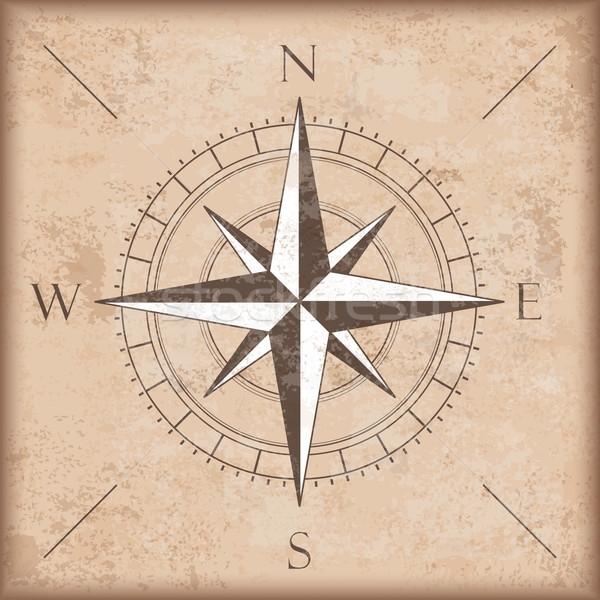 Vintage Background Brown Compass Stock photo © limbi007