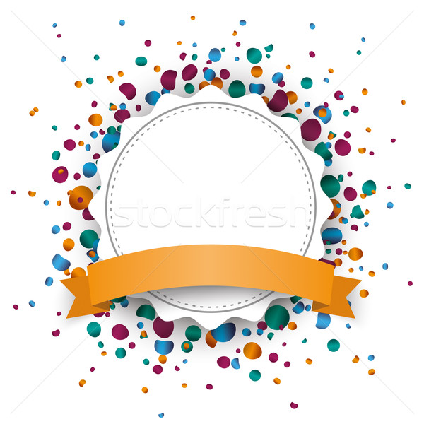Jagged Paper Emblem Ribbon Confetti Stock photo © limbi007