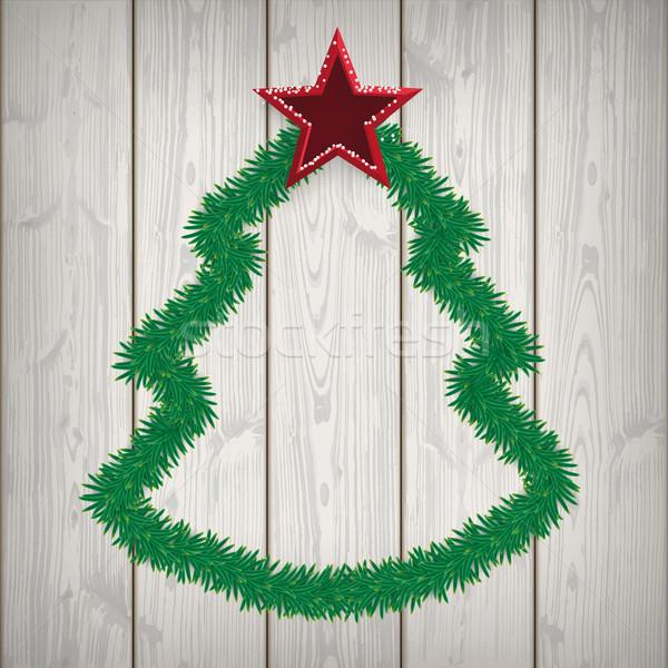 рождественская елка зеленый прибыль на акцию 10 вектора Сток-фото © limbi007