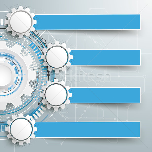 Infographic Schematic 4 Gears Banners Construction Stock photo © limbi007