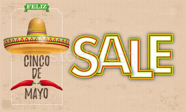 сомбреро майонез Chili Vintage продажи прибыль на акцию Сток-фото © limbi007