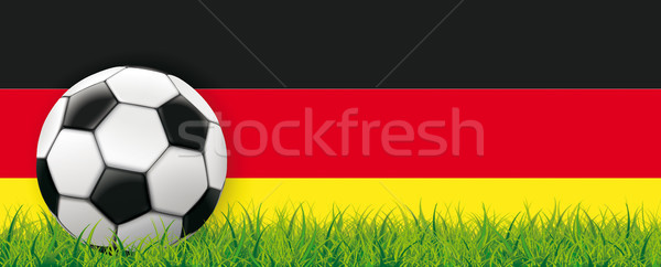 Football Side Grass German Flag Header Stock photo © limbi007