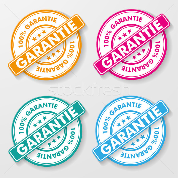 100 Percent Guarantee Paper Labels Stock photo © limbi007