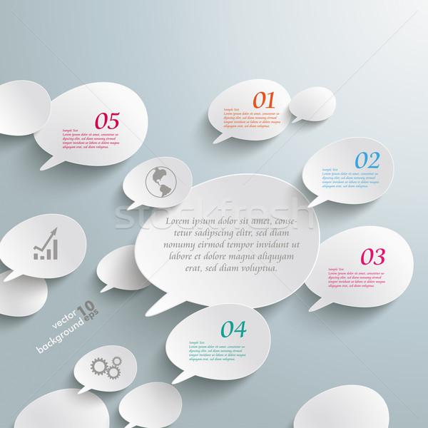 Bevel Speech Bubbles Infographic Design Stock photo © limbi007
