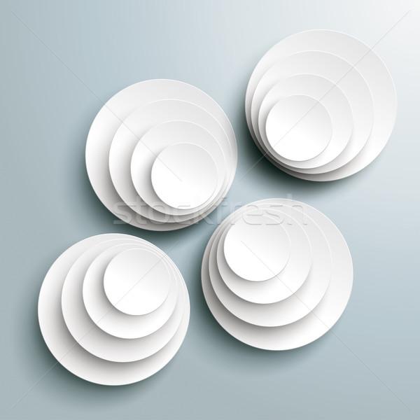 4 Bevel Circle in Circles Background Stock photo © limbi007