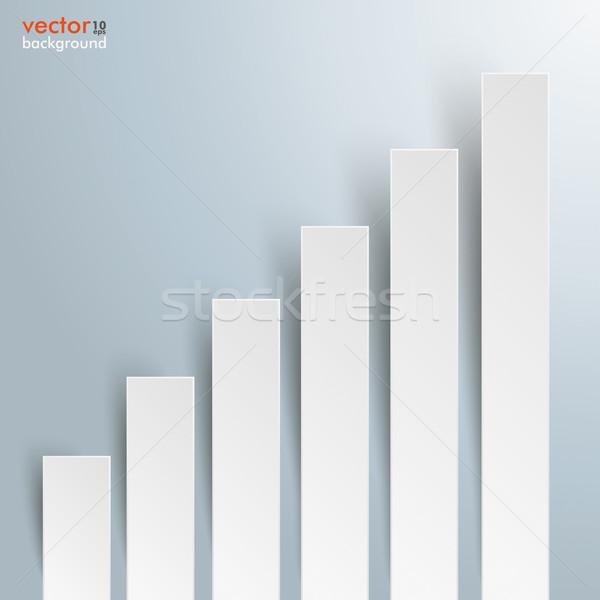 Grafiek groei bars sjabloon grijs Stockfoto © limbi007