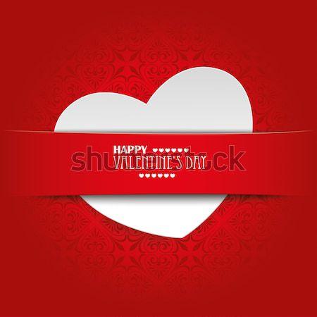 White Heart Convert Red Banner Stock photo © limbi007