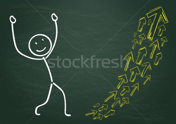 Сток-фото: доске · Стрелки · роста · прибыль · на · акцию · 10 · вектора