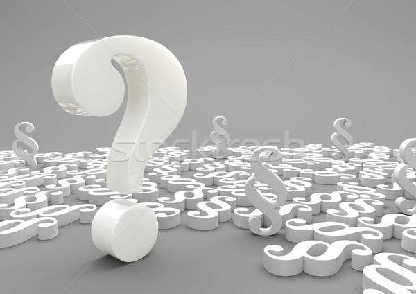 Question Mark Paragraphs Stock photo © limbi007