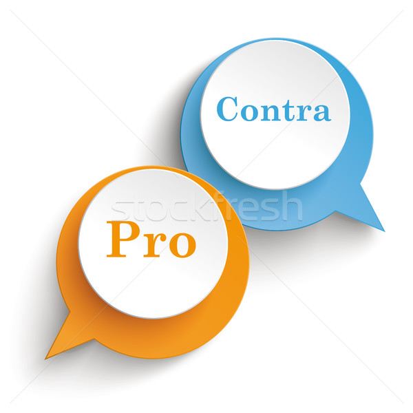 2 Speech Bubbles Pro Contra Stock photo © limbi007