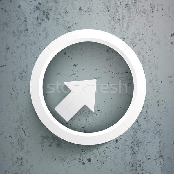 Blanco flecha anillo concretas eps 10 Foto stock © limbi007