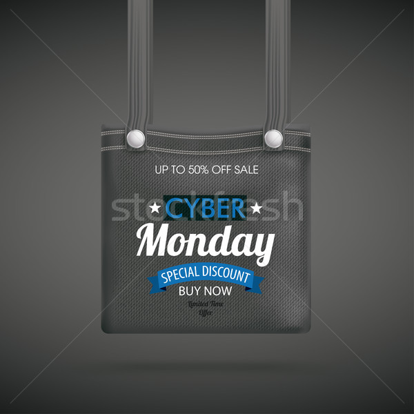 Dark Purse Bag Cyber Monday Discount Ribbon Stock photo © limbi007