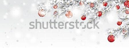 凍結 太陽 グリッター 赤 降雪 ヘッダ ストックフォト © limbi007