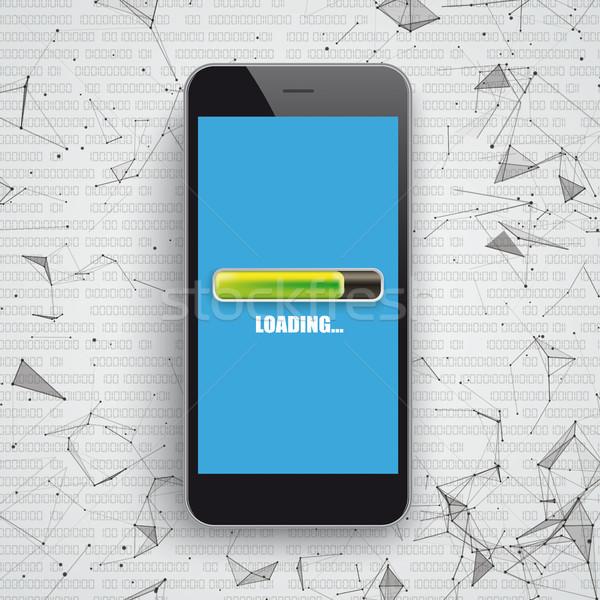 Smartphone Network Data Loading Stock photo © limbi007