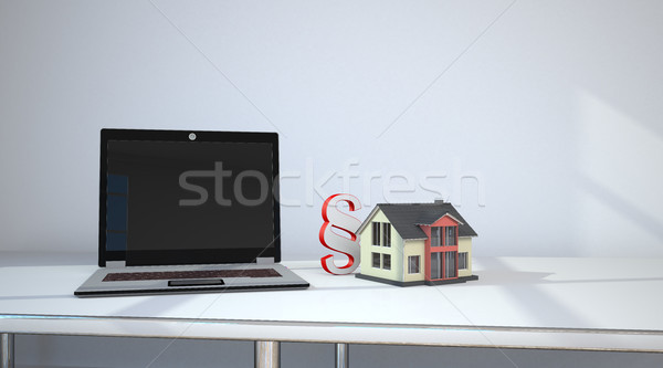 Notebook Room House Paragraph Stock photo © limbi007