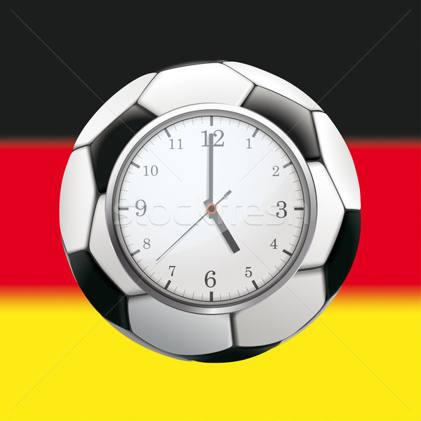 Clock Football Germany Stock photo © limbi007