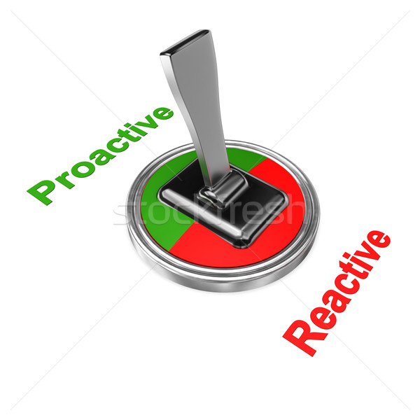 Proativa mudar símbolo texto fundo vermelho Foto stock © limbi007