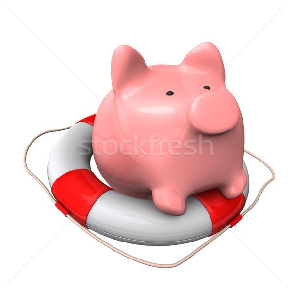 Alcancía 3d blanco dinero financiar banco Foto stock © limbi007