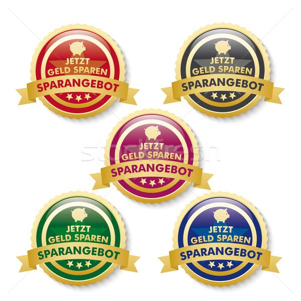 Discount Offer 5 Golden Buttons Stock photo © limbi007