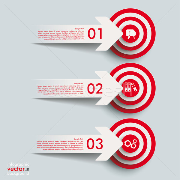 3 Paper Cut Arrow 3 Targets Stock photo © limbi007