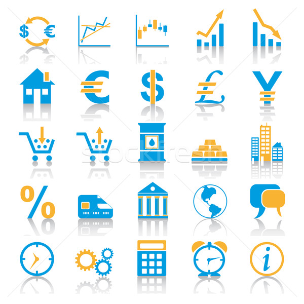 Exchange Marketplace Icons Stock photo © limbi007