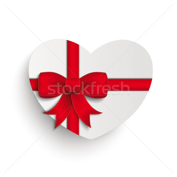 Red Cross Ribbon White Paper Heart Stock photo © limbi007