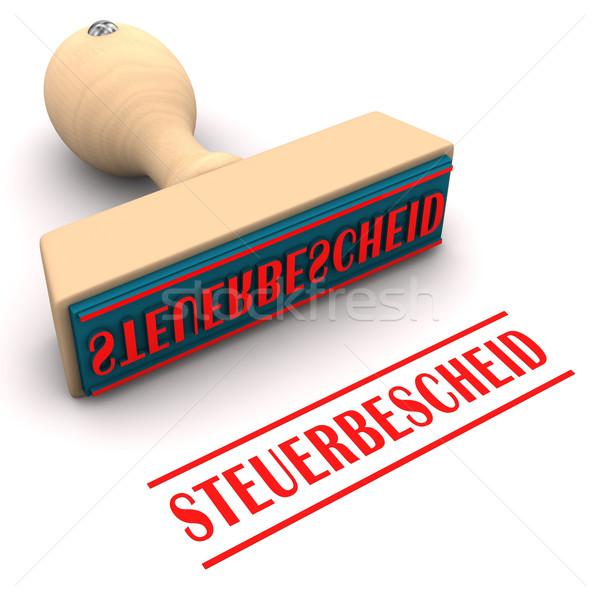 Stempel Steuer Nachfrage Text Büro Dokument Stock foto © limbi007