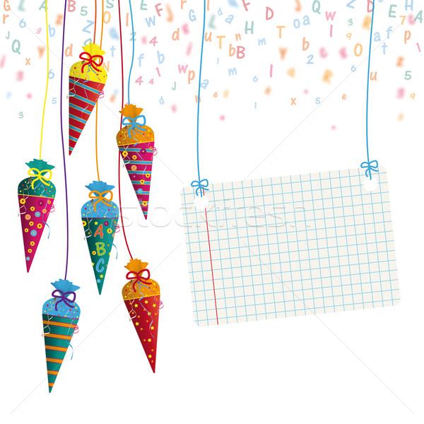 Colgante dulces banner cartas papel Foto stock © limbi007