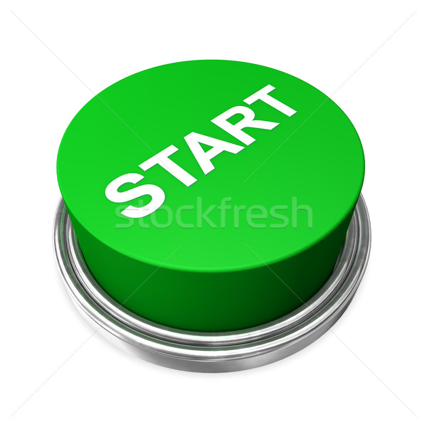 Stock photo: Start Button