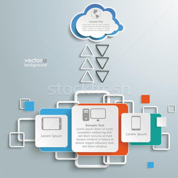 Cloud Computing Communication Stock photo © limbi007