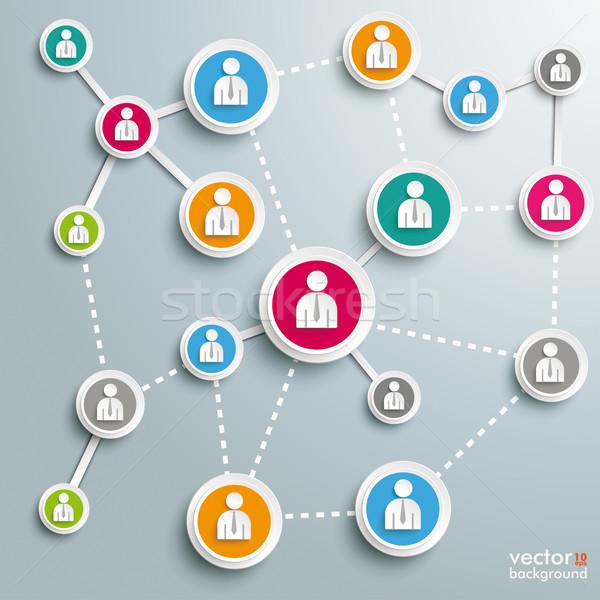 Business netwerken ontwerp grijs eps Stockfoto © limbi007
