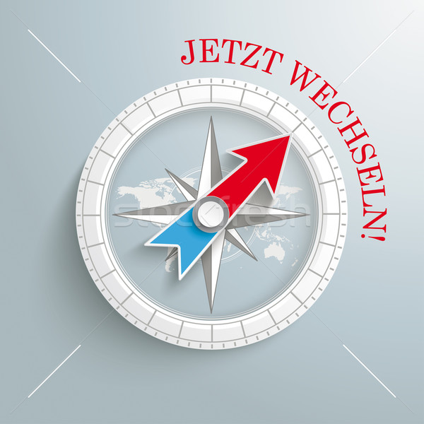 Compass Jetzt Wechseln Stock photo © limbi007