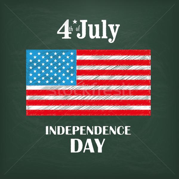 Blackboard USA Flag 4 July Stock photo © limbi007