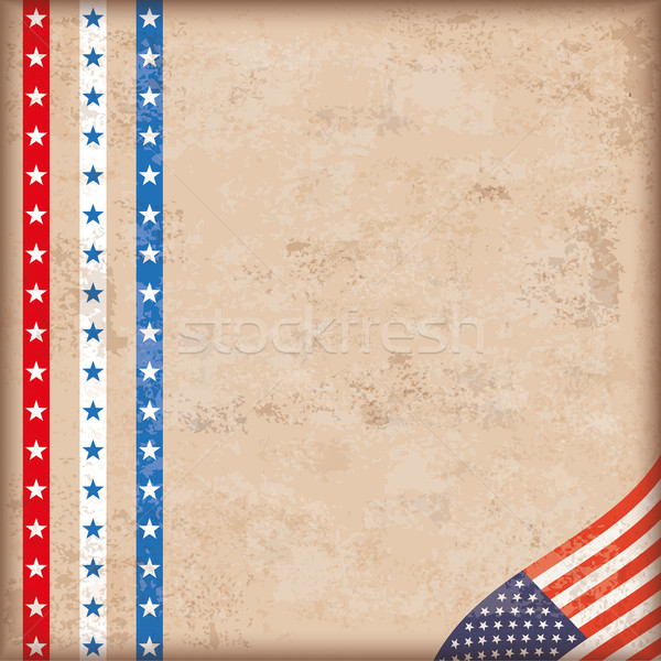 Vintage Background US Flag Stripes Edge Stock photo © limbi007