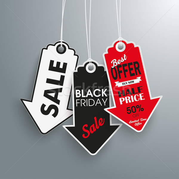 3 Arrow Price Stickers Black Friday Stock photo © limbi007