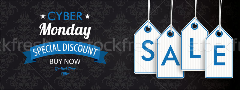 Cyber Monday Header Ornaments Price Stickers Sale Stock photo © limbi007