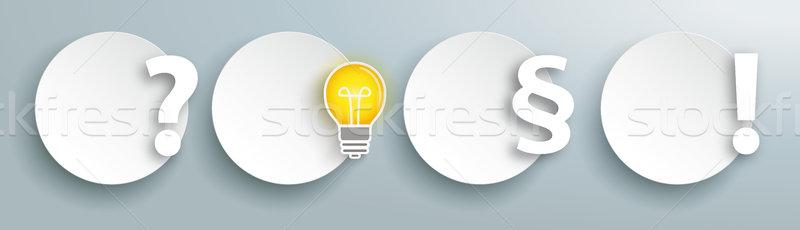 Circles Planning Paragraph Concept Header Stock photo © limbi007