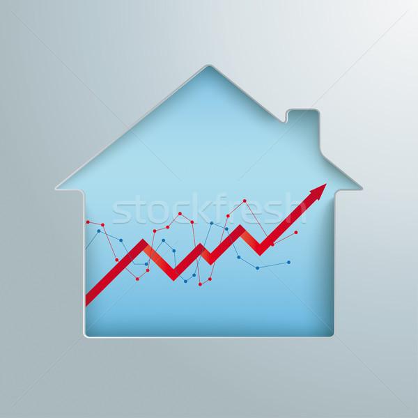 House Hole Growing Chart Stock photo © limbi007
