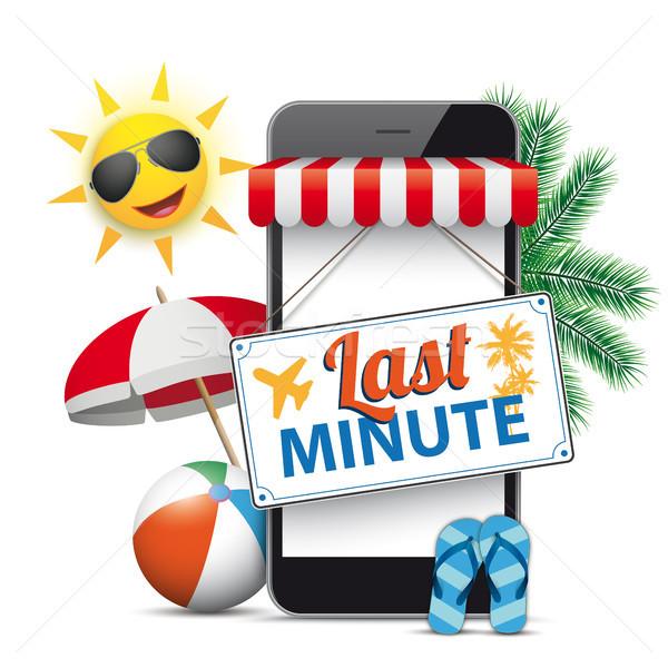Smartphone Shop Marquee Last Minute  Stock photo © limbi007