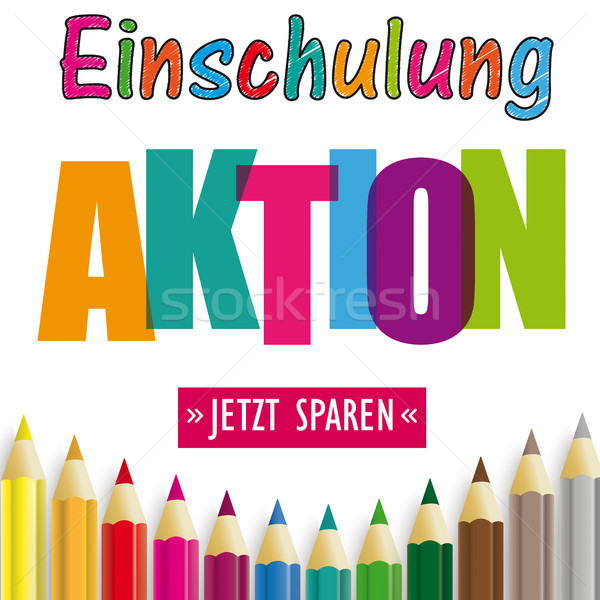 Colored Pencils Einschulung Aktion Stock photo © limbi007