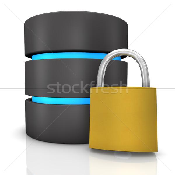 Bazy danych komputera technologii serwera niebieski notebooka Zdjęcia stock © limbi007