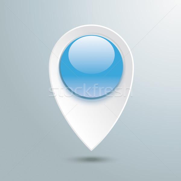 Location Marker Blue Button Stock photo © limbi007