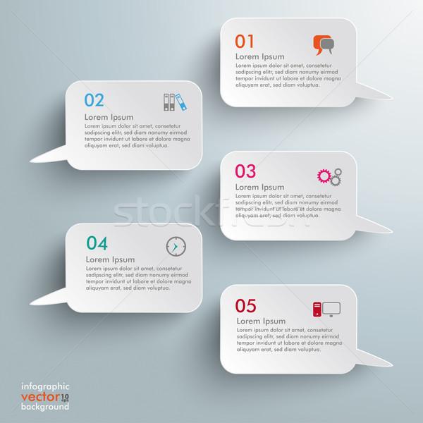 Rettangolo infografica design grigio eps Foto d'archivio © limbi007