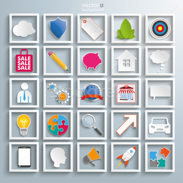 Stock photo: Business Infographic Elements Icons Set
