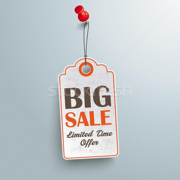 Price Sticker Big Sale Red Thumbtack Stock photo © limbi007