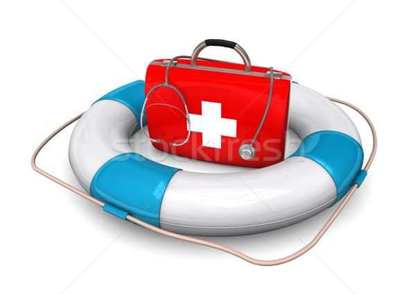 Lifebelt First Aid Case Stock photo © limbi007