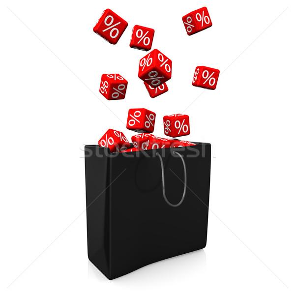 Сток-фото: корзина · красный · черный · 3d · иллюстрации · магазин